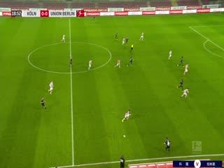 11月23日 2020-21赛季德甲第8轮 科隆VS柏林联合 PPTV高清国语